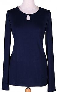shirt druppel - D.blauw