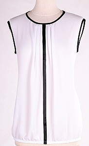 blouse mouwloos - Wit