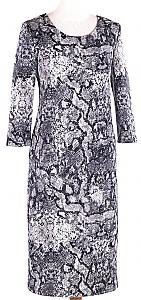 jurk scuba print - Grijs dessin