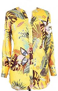 blouse 3/4-mouw - Geel Dessin