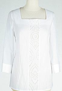 blouse kantinzet - Wit