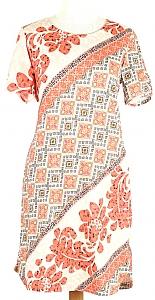 tricot jurk k.m. - Oranje Dessin