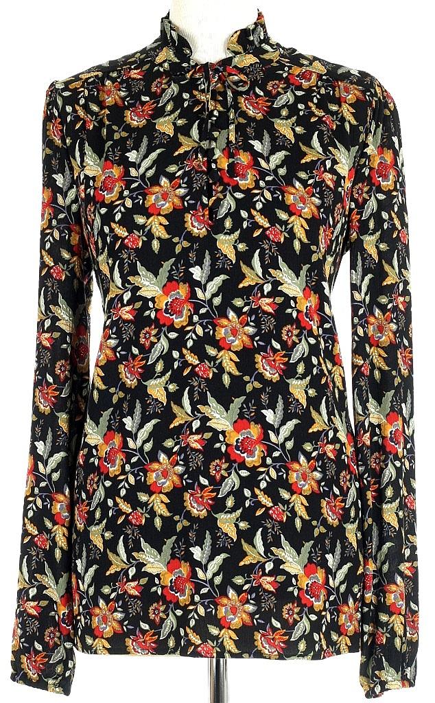 blouse ls - Zwart Dessin