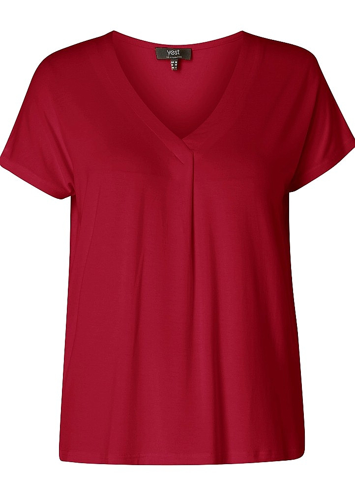 shirt V-hals - D.rood