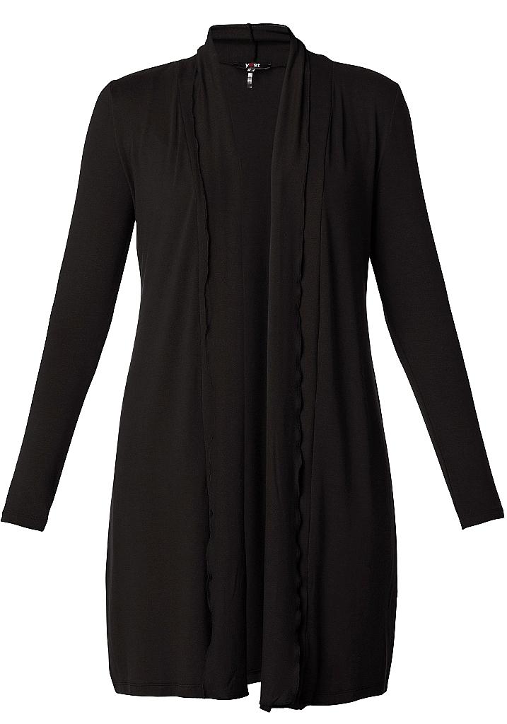 lang tricot vest - Zwart