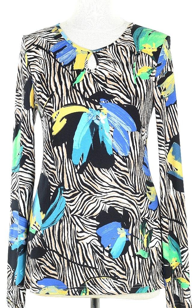 shirt druppel - Blauw Dessin