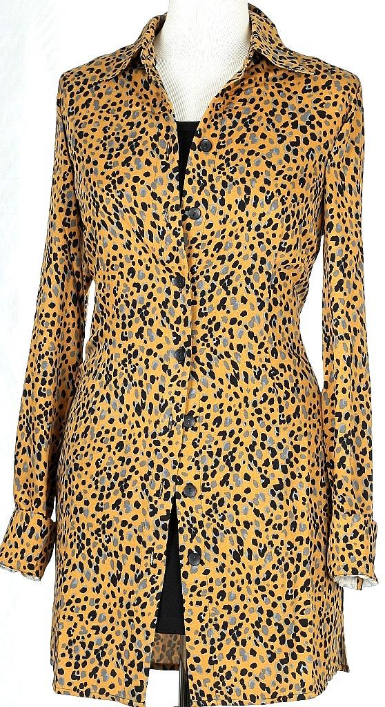 lange blouse - Okergeel