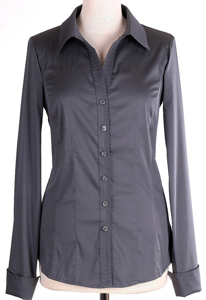 basis blouse - D.grijs