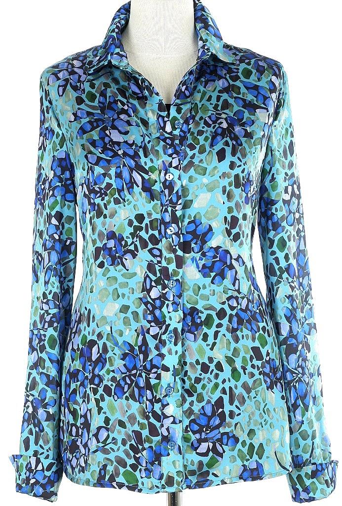 blouse dessin - D.blauw
