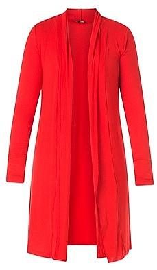 lang tricot vest - Rood