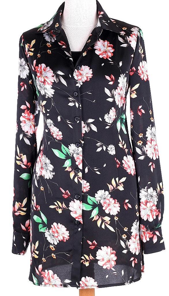 lange blouse - Zwart Dessin