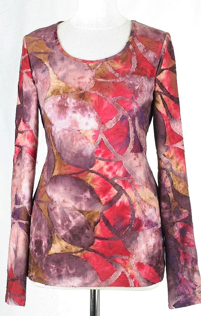 shirt gevoerd - Rood Dessin