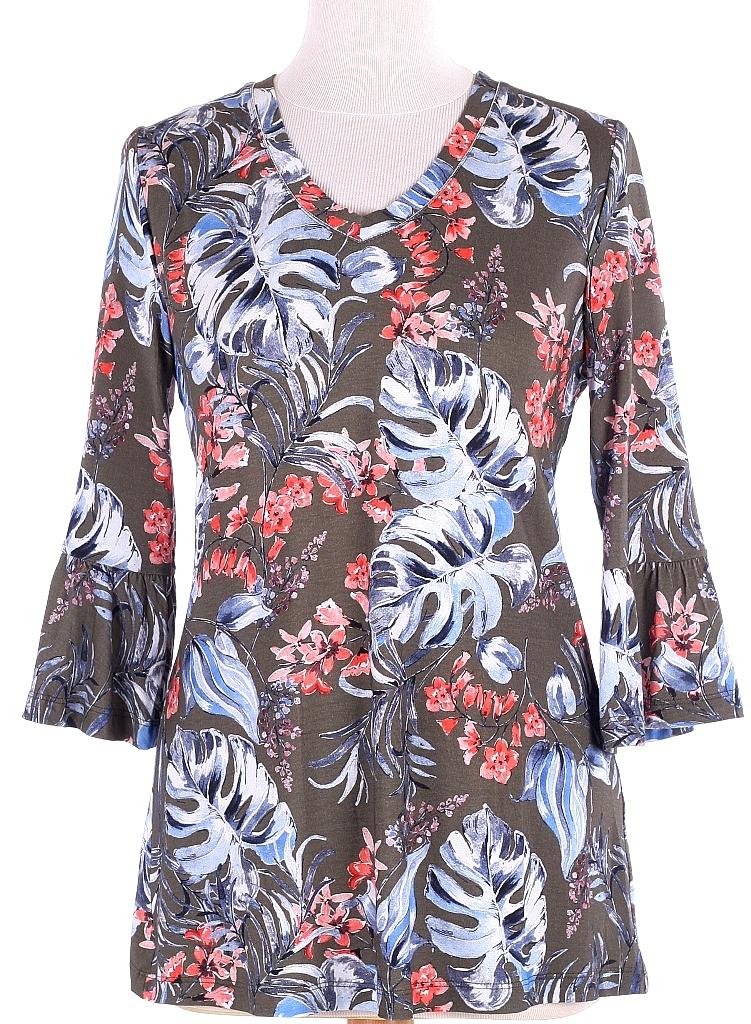 shirt tulpmouw - Groen Dessin