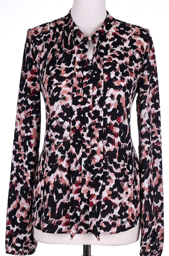 blouse strik - Rood Dessin