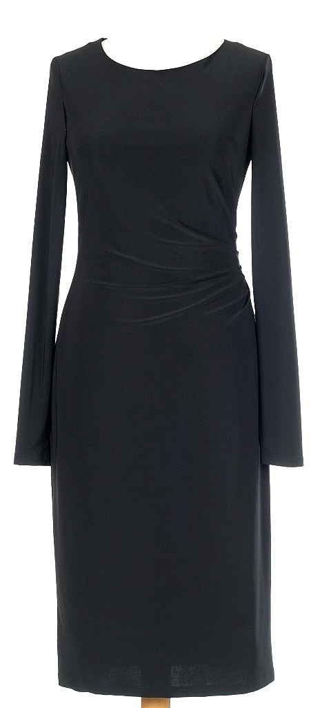 jurk rimpel opzij - Zwart