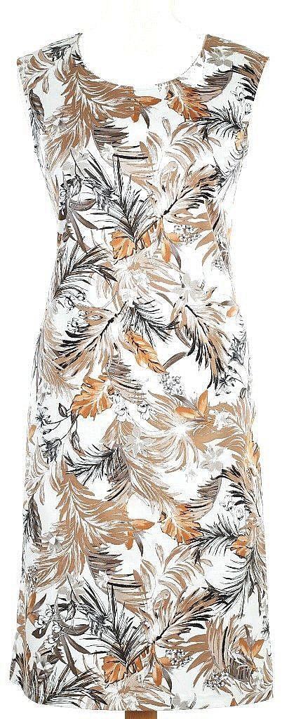 jurk mouwloos - Bruin Dessin