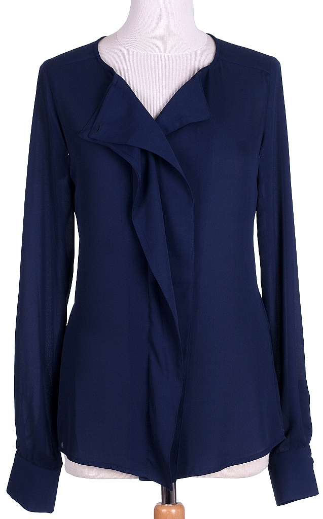 blouse roezel - D.blauw