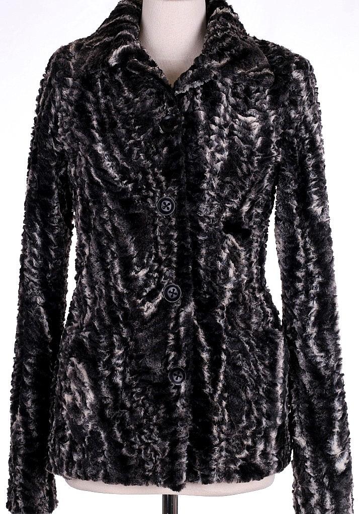 jasje fake fur - Zwart Dessin