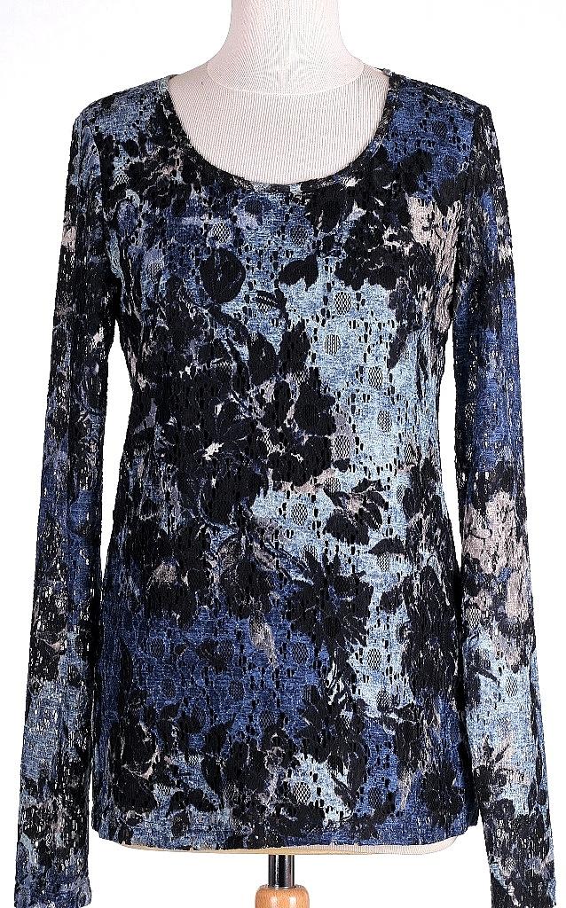 shirt gevoerd - Blauw Dessin