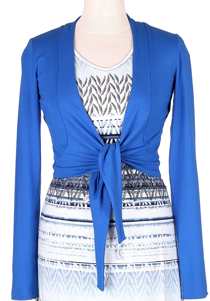 bolero tricot - Mid.blauw