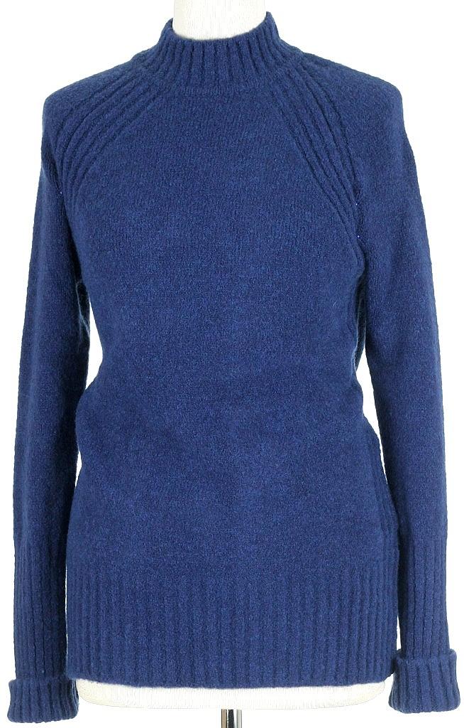 warme trui - Mid.blauw