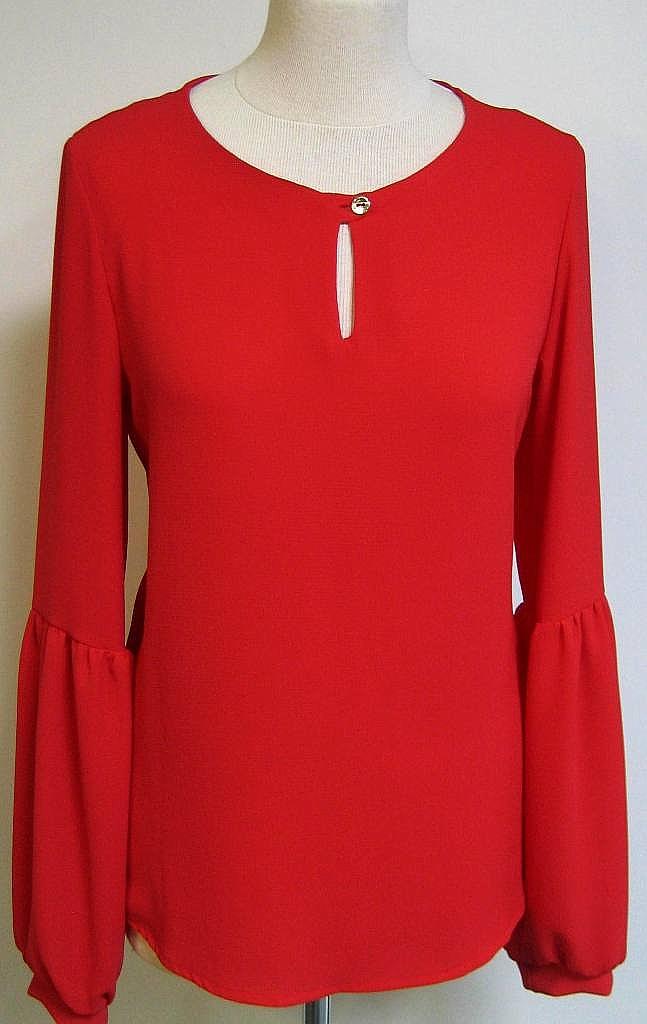 blouse tulpmouw - Rood