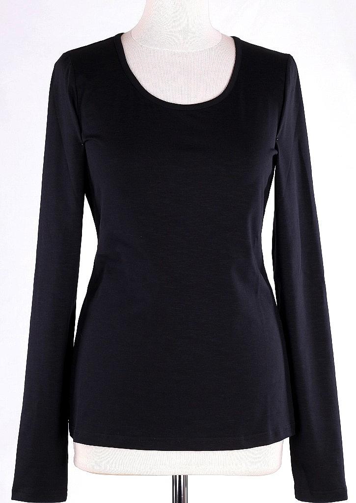 basic shirt ls - Zwart