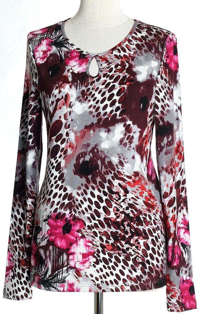 shirt druppel - Roze Dessin