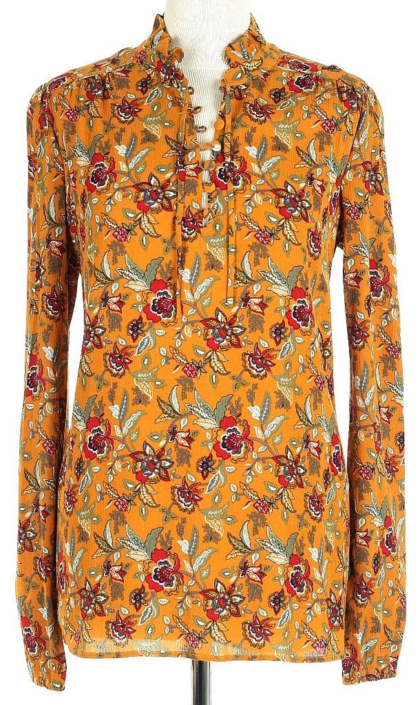 blouse ls - Okergeel