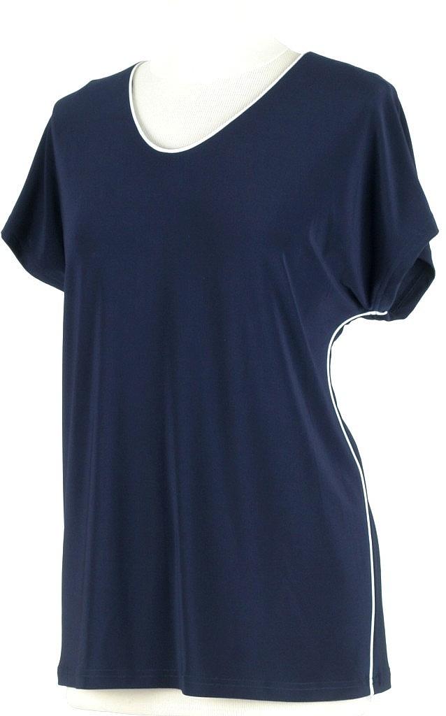 shirt v-hals - D.blauw