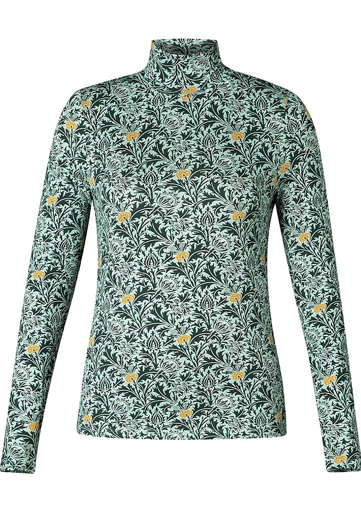 shirt col - Groen Dessin