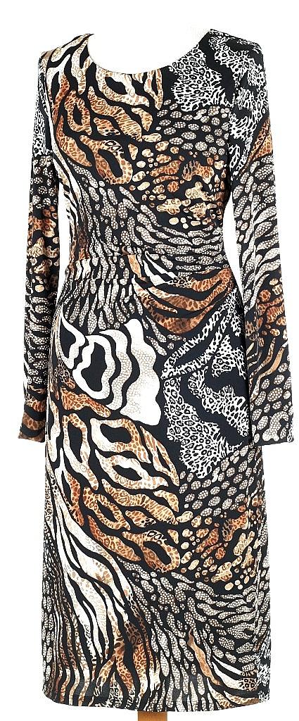 jurk rimpel opzij - Bruin Dessin