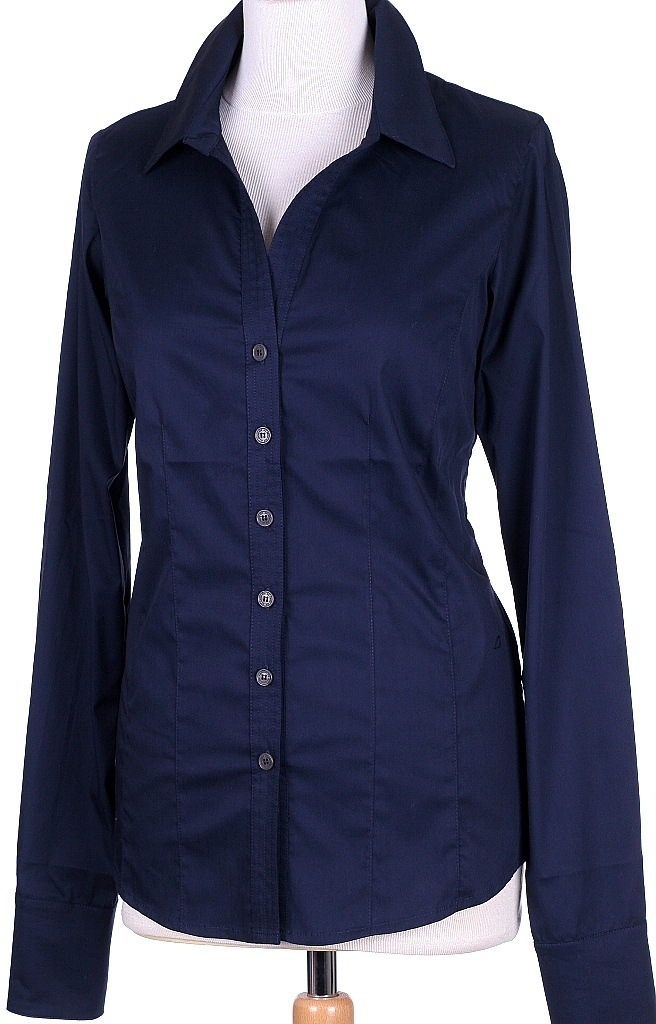 basis blouse - D.blauw